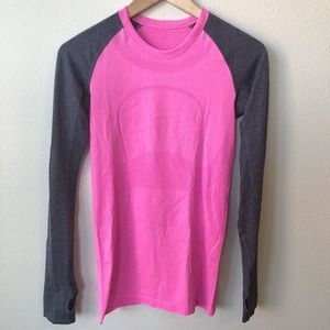 Lululemon Swiftly Tech Long Sleeve Top, Pink, 4
